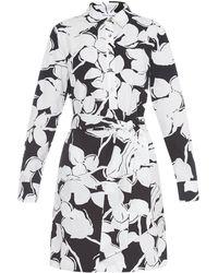 Diane von Furstenberg Taffy Shirt Cotton Dress black - Lyst