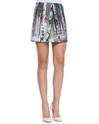Tibi Enchanted Forest Printed Miniskirt - Lyst