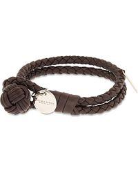 Bottega Veneta - Double Woven Leather Bracelet - Lyst