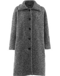 Aspesi Bouclè Wool Coat - Lyst