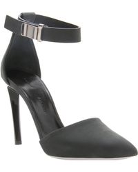 Proenza Schouler Suede D'Orsay Ankle Strap Pump Suede D'Orsay Ankle Strap Pump - Lyst