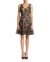 Betsy & Adam Lace Cocktail Dress - Lyst