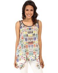 Karen Kane Handkerchief Tank Top multicolor - Lyst