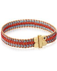 Biography - Coral Reef Wide Woven Bracelet - Lyst