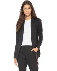 Re:named - Stripe Sleeve Blazer - Black - Lyst