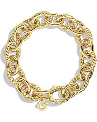 David Yurman - Oval Large Link Bracelet In Gold - Lyst