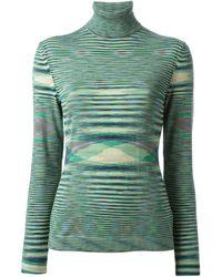 Missoni Patterned Turtleneck Sweater - Lyst