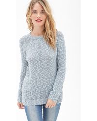Love 21 Textured Open-Knit Sweater - Lyst