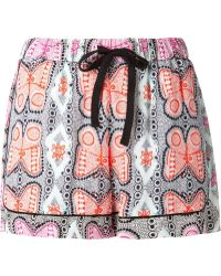 Sea Combo Print Shorts - Lyst