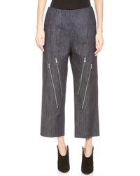 Jay Ahr Zipper Crop Jeans  Blue - Lyst