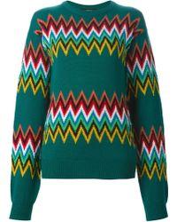 Jeremy Scott | Zig-zag Intarsia Sweater | Lyst