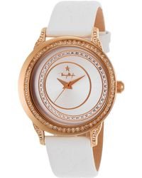 Thierry Mugler Women'S White Genuine Leather Silver-Tone Dial - Lyst