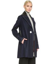 Edun - Cashmere Blend Pea Coat - Navy - Lyst