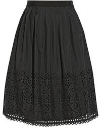Alice By Temperley Madison Lasercut Crepe De Chine Skirt - Lyst