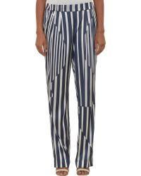 Thakoon Variegated Stripe Satin Pants - Lyst