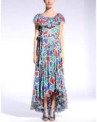 Yves Saint Laurent Rive Gauche 3/4 Length Dress multicolor - Lyst