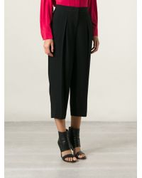 DKNY Tapered Cropped Trousers - Lyst