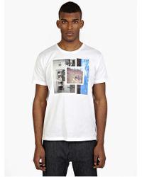 Raf Simons Men'S Couple Printed Cotton T-Shirt - Lyst
