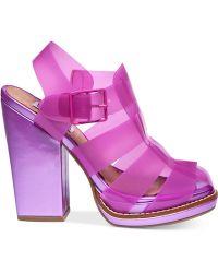 Steve Madden By Iggy Azalea Hi-Top Caged Platform Dress Sandals - Lyst