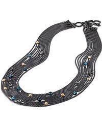David Yurman Multi-Row Chain Necklace - Lyst