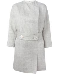 N_8 Belted Cotton and Linen-Blend eCoat - Lyst