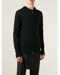 Unconditional Black Zipped Hoodie - Lyst