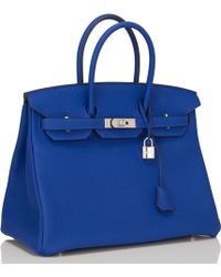 Hermès | Blue Electric Togo Birkin 35cm | Lyst