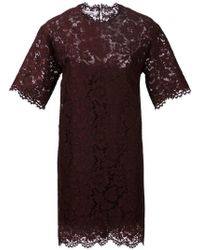 Valentino Lace Mini Dress - Lyst