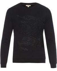 Burberry Brit - Embroidered Cotton-jersey Sweatshirt - Lyst