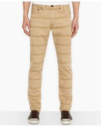 Levi's Closeout! 511 Slim-Fit Printed Twill Pants - Lyst
