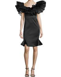 Zac Posen Puff Ruffled Cocktail Dress - Lyst