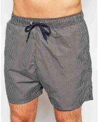 Selected Classic Gingham Swim Shorts - Lyst