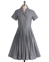 ModCloth Mod Of Approval Dress in Polka Dots - Lyst