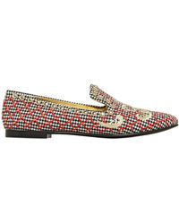 Giuseppe Zanotti 10Mm Embroidered Wool Loafers - Lyst
