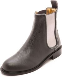 Avec Moderation Pimlico Cheslea Boots Anthracite - Lyst