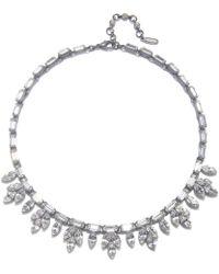 Ben-amun Bridal Crystal Leaf Necklace silver - Lyst