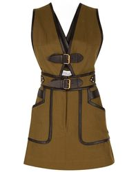 10 Crosby Derek Lam Apron Dress With Buckle Detail - Lyst
