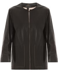 Adam Lippes Double Faced Leather Jacket - Lyst