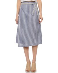 Sea Wrap Skirt - Blue Stripe - Lyst