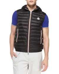 Moncler Naples Quilted Hooded Vest - Lyst