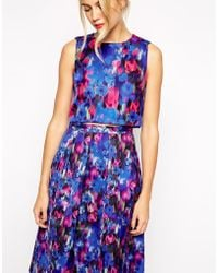 Oasis Blurred Floral Top - Lyst