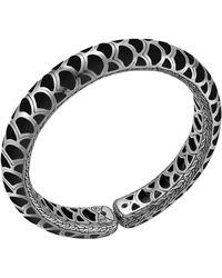 John Hardy Naga Silver Enamel Flex Cuff with Black Enamel - Lyst