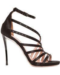 Les Tropeziennes - 110mm Embellished Silk Satin Sandals - Lyst