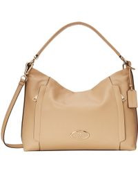 Coach Pebbled Leather Scout Hobo - Lyst