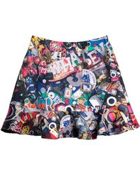 Cynthia Rowley Multicolor Ruffle Skirt - Lyst