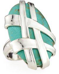 Slane - Crescent Weave Turquoise Ring - Lyst