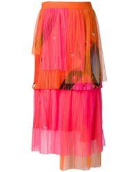 Manish Arora Pleated Tiered Skirt - Lyst