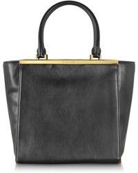 Michael Kors Lana Black Leather Large Tote