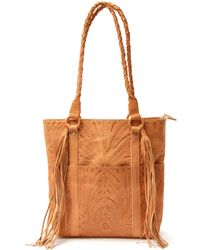 Sabrina Tach Guadalupe Tooled Leather Tote - Lyst