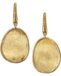Marco Bicego Lunaria 18k Gold Drop Earrings - Lyst